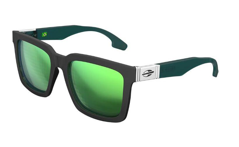 Oculos Solar Mormaii Sacramento M0032a6785 Preto Lente Verde Espelhado