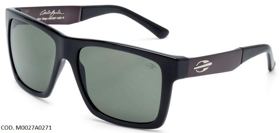 Oculos Solar Mormaii San Diego Carlos Burle Cod. M0027A0271 Preto Brilho