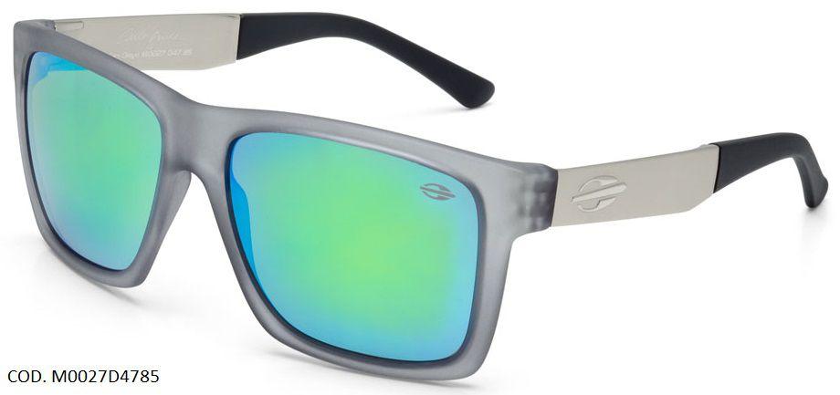 Oculos Solar Mormaii San Diego Carlos Burle Cod. M0027D4785 Cinza Espelhado