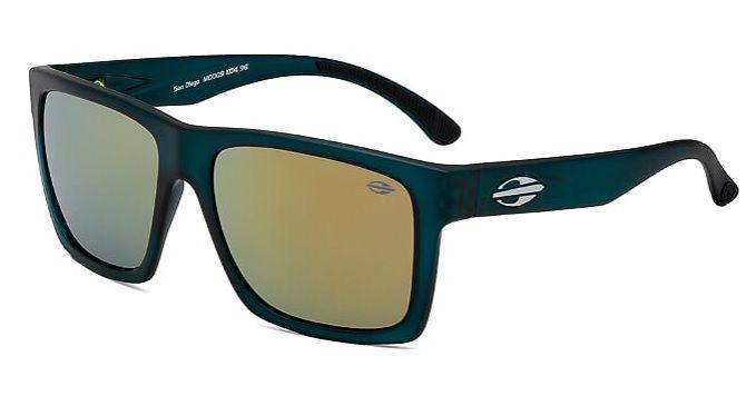 Oculos Solar Mormaii San Diego M0009K0496 Azul Petroleo Translucido - Lente Dourado Espelhado