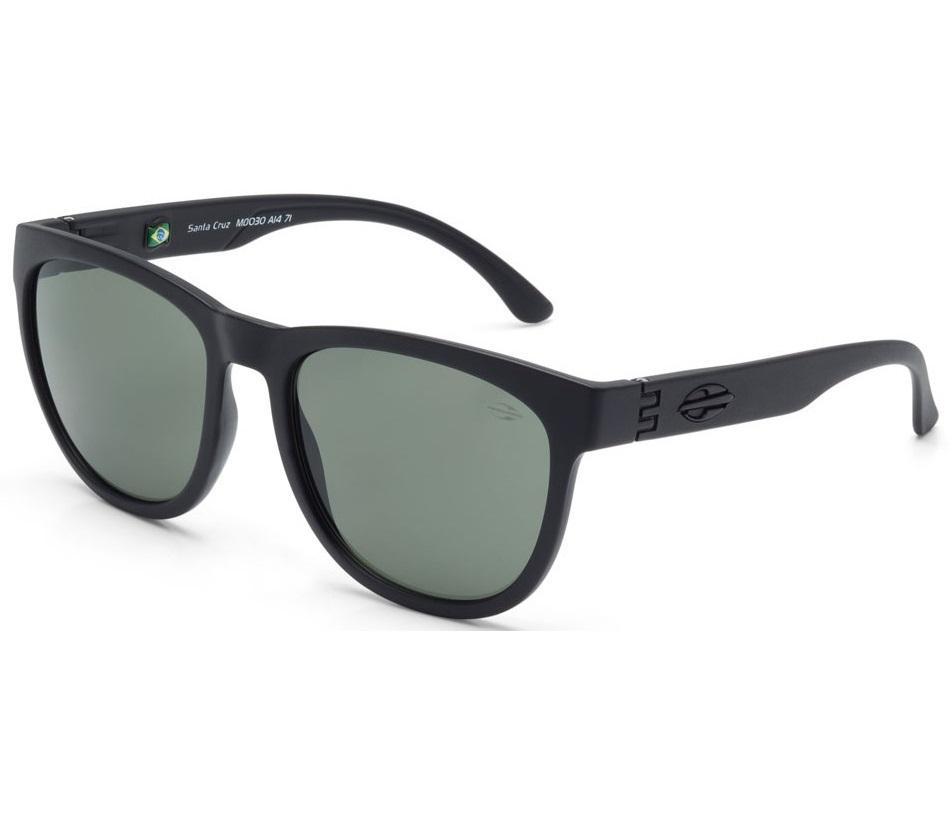 Oculos Solar Mormaii Santa Cruz M0030a1471- PRETO - LENTE VERDE