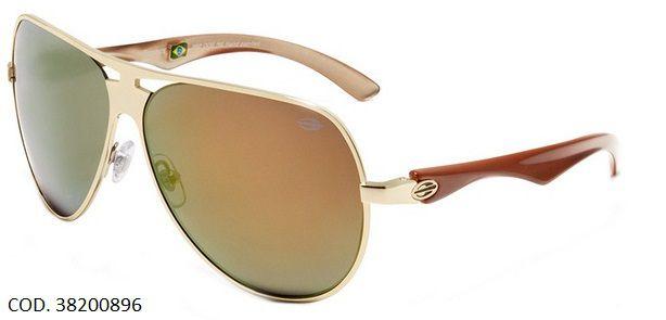 Oculos Solar Mormaii Trance Cod. 38200896 Dourado Espelhado