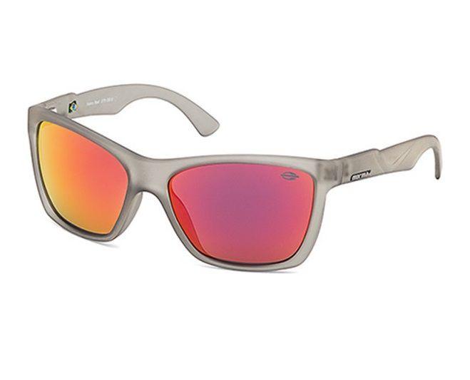 Oculos Solar Mormaii Venice Beat 379d1311 Cinza Translucido Lente Vermelha Espelhada