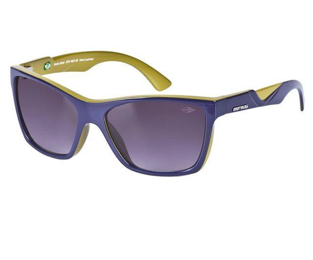 Oculos Solar Mormaii Venice Beat 37946333 Roxo e Verde Lente Cinza Degradê