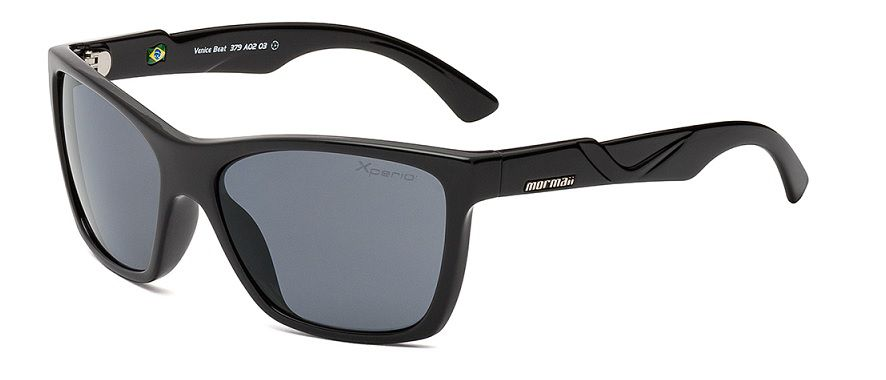 Oculos Solar Mormaii Venice Beat Xperio Polarizado Cod. 379A0203 Preto Brilho