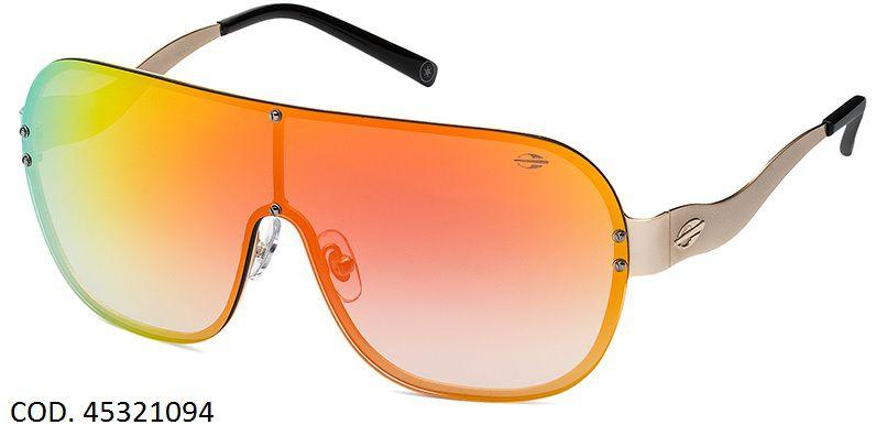 Oculos Solar Mormaii Yara 4 Cod. 0045321094 Dourado - Laranja Espelhado e5f41a5215