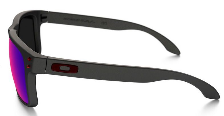 Oculos Solar Oakley Holbrook Matte Black Red Iridium 910236 55
