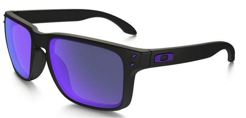 Oculos Solar Oakley Holbrook Matte Black Violet Iridium 910226 55