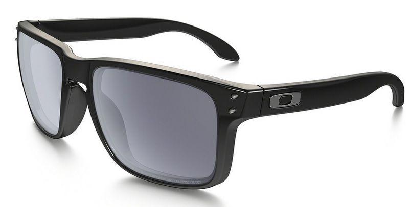 0b841a60c Oculos Solar Oakley Holbrook Polished Black Grey Polarizado 910202 55