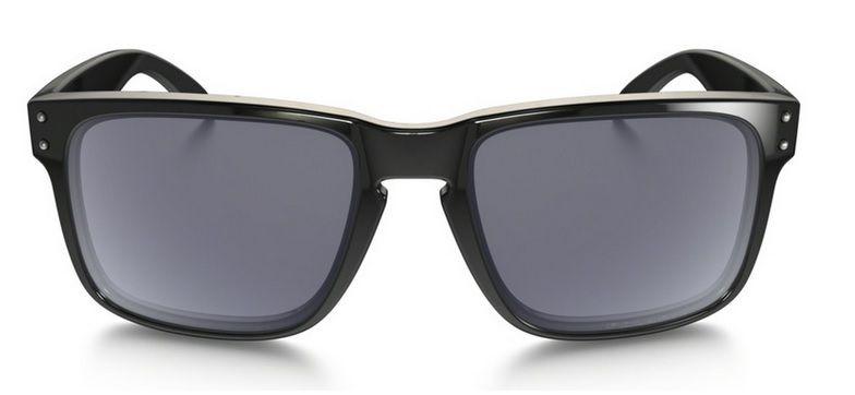 Oculos Solar Oakley Holbrook Polished Black Grey Polarizado 910202 55