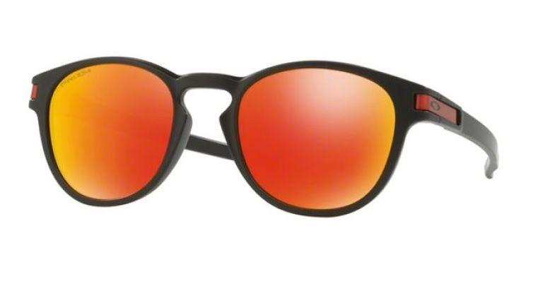 67625a8125b43 Oculos Solar Oakley Latch 9265 29 Preto Fosco Lente Vermelha Espelhada Prizm