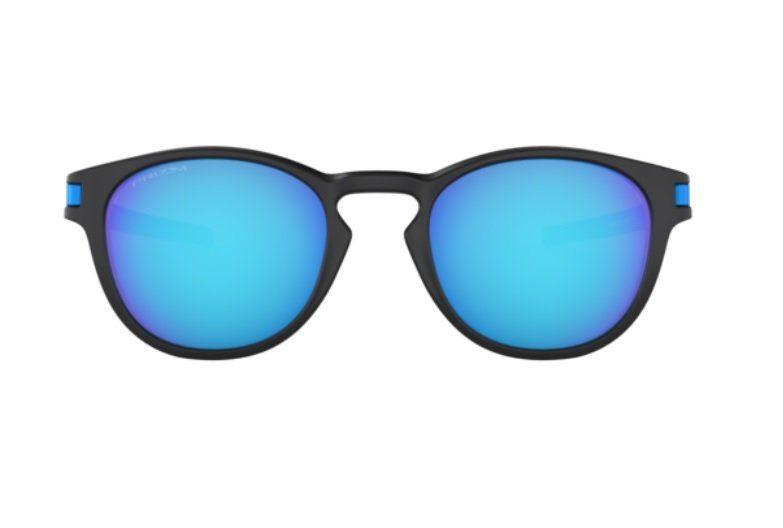 76b5fdab7852a ... Oculos Solar Oakley Latch 9265 30 Preto Fosco Lente Azul Espelhada  Prizm ...