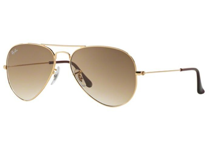 04aac0a2103da OCULOS SOLAR RAY BAN AVIADOR RB3025 001 51 58MM DOURADO LENTE MARROM DEGRADÊ