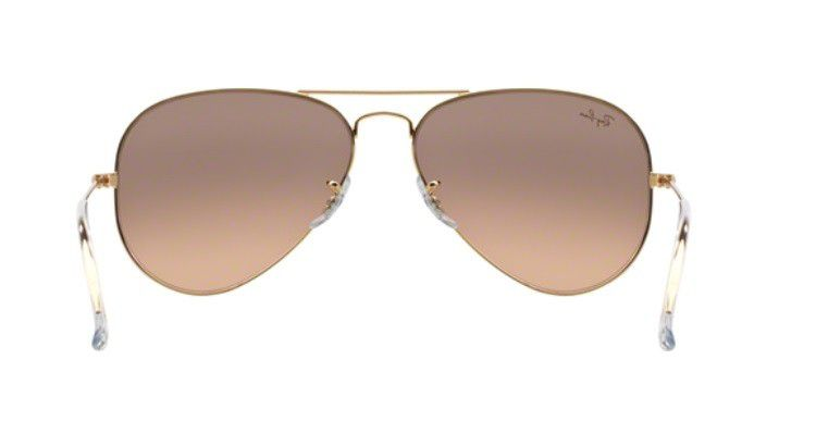 8cd4b5f81db0b ... OCULOS SOLAR RAY BAN AVIADOR RB3025 001 3E 55MM DOURADO LENTE ROSA  DEGRADÊ