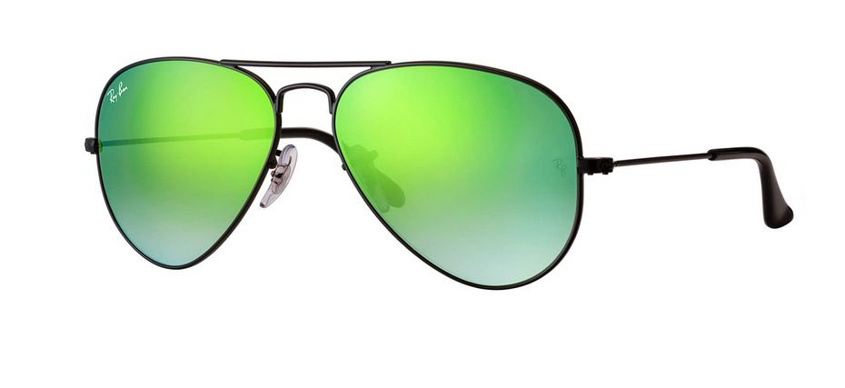 9be9fb7e4 OCULOS SOLAR RAY BAN AVIADOR RB3025 002/4J 58 PRETO VERDE DEGRADÊ ESPELHADO