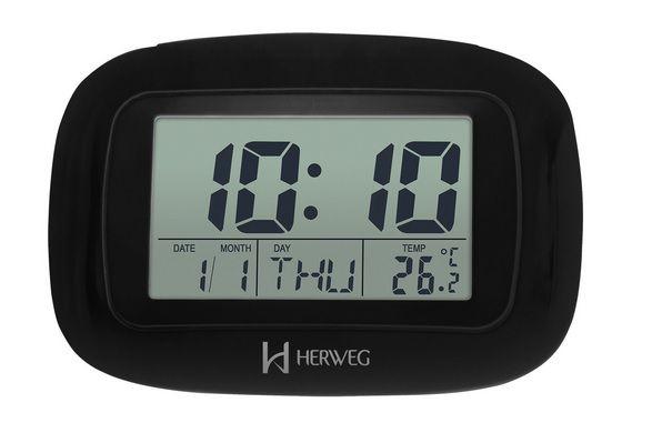 Relógio Despertador Digital Herweg 2967 035 Termometro Calendario