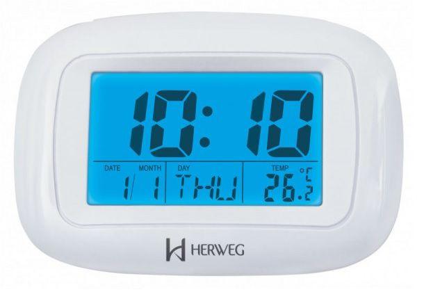 Relógio Despertador Digital Herweg 2967 242 Termometro Calendario