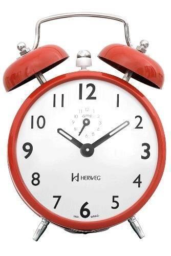 Relógio Despertador Herweg 2202 288 Cor Telha Retrô Vintage