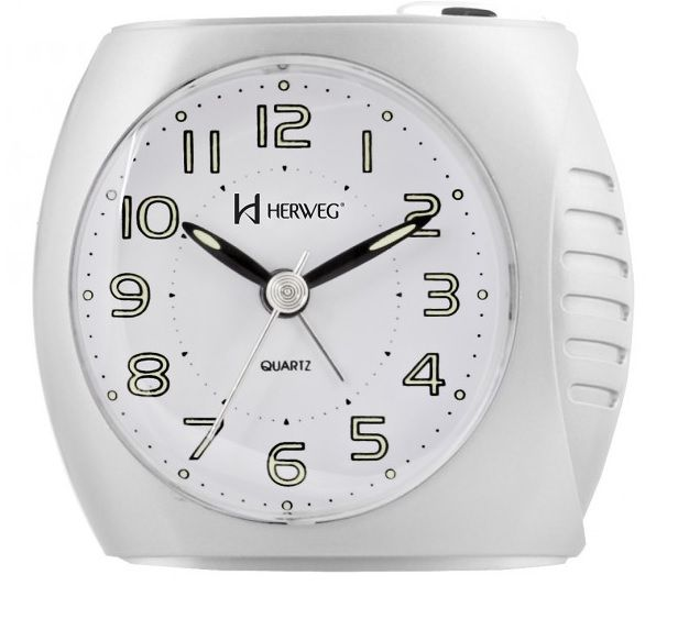Relógio Despertador Herweg 2586 021 Branco