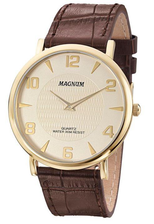 Relógio Magnum MA21893X Super Fino Pulseira de Couro