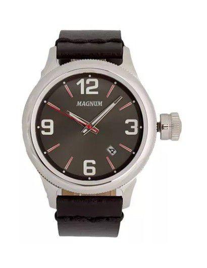 Relógio Magnum MA34165V Calendario Pulseira Couro