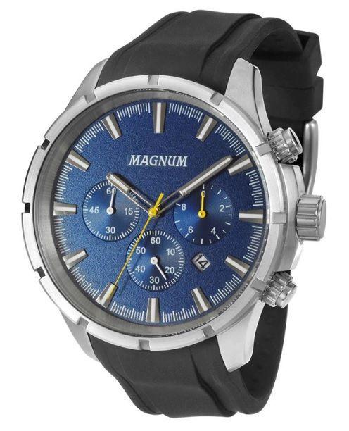 Relógio Magnum MA34343F Calendario Cronografo Pulseira Silicone ... af0f6b7ad1