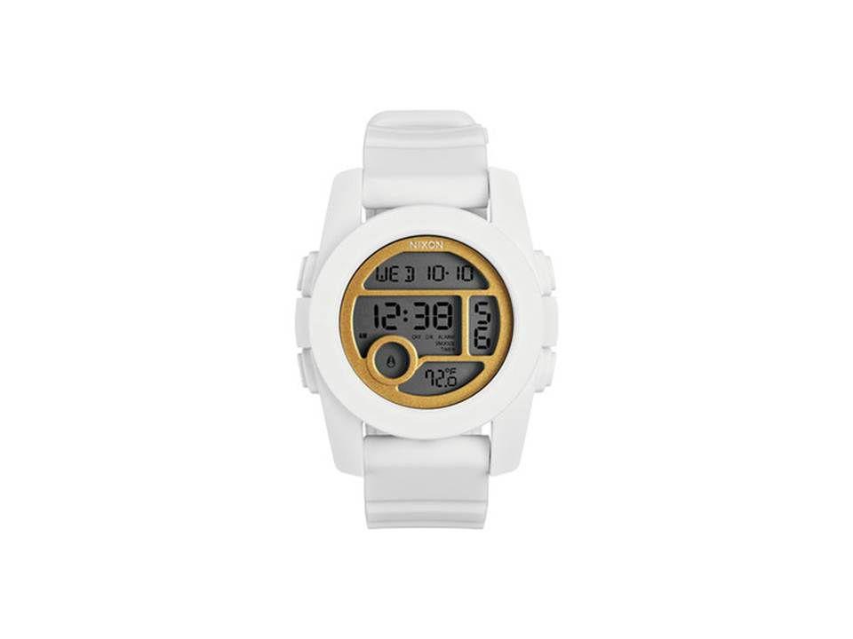Relogio Nixon Unit 40 Xa490 1035 Branco Dourado
