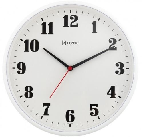 Relógio Parede Herweg 6126 021 Analogico 26cm Branco