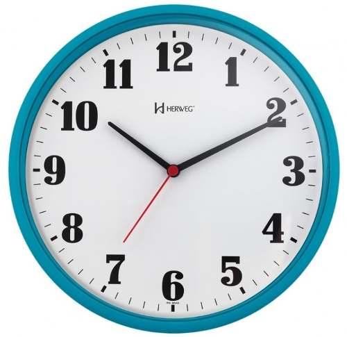 Relógio Parede Herweg 6126 267 Analogico 26cm Azul