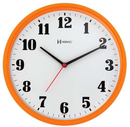 Relógio Parede Herweg 6126 270 Analogico 26cm Laranja