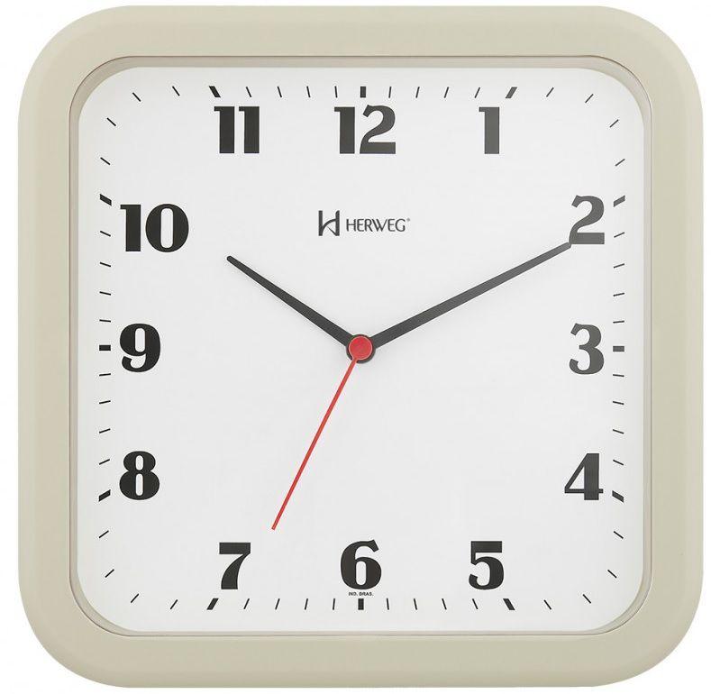 Relógio Parede Herweg 6145 032 Quadrado Marfim