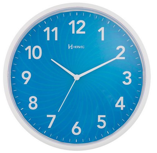 Relógio Parede Herweg 6182 011 Azul