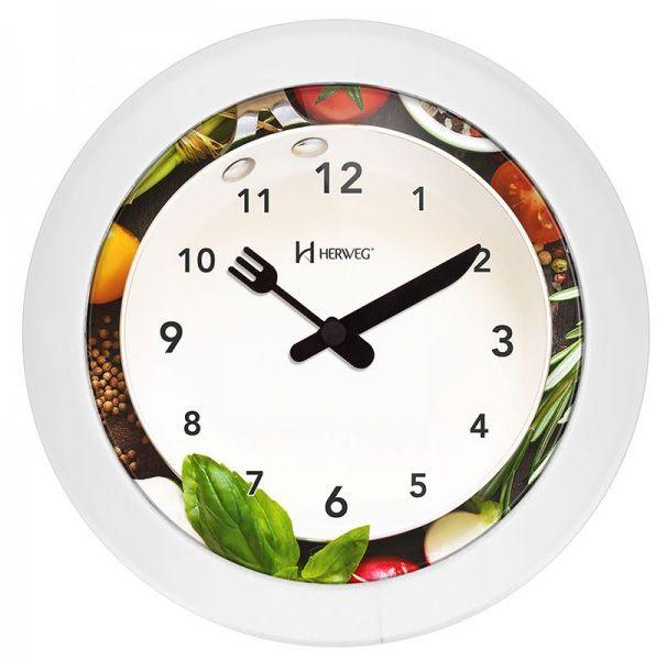 Relógio Parede Herweg 6651-021 Cozinha 21cm