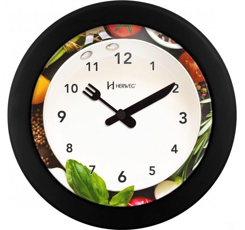 Relógio Parede Herweg 6651-034 Cozinha 21cm