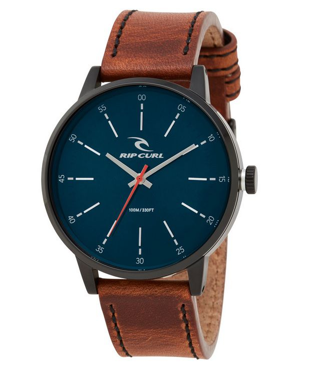 5fafb9ac621 RELÓGIO RIP CURL DRAKE MIDNIGHT LEATHER NAVY A2908 49 PULSEIRA COURO ...