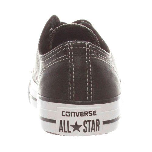Tênis All Star Converse Em Couro Original Branco Preto CT328 Lindo