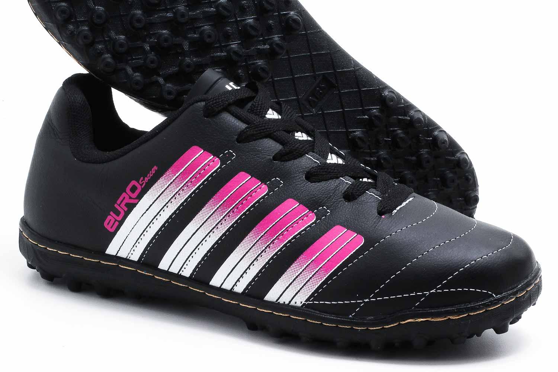 Chuteira Euro Soccer Society Couro Masculino 22-07  - Ian Calçados
