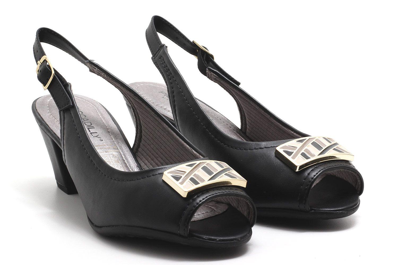 Peep Toe Piccadilly Chanel Metal Salto Baixo 714106  - Ian Calçados
