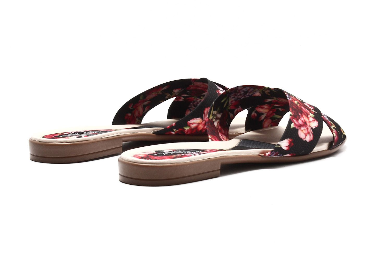 Rasteira Beira Rio Tira Tecido Floral Cruzada 8369205  - Ian Calçados