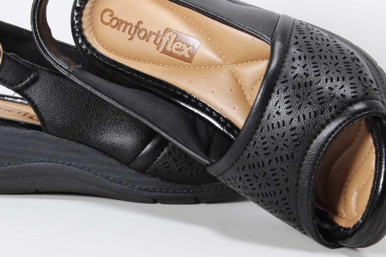 Sandália Comfortflex Feminina Anabela 1896402  - Ian Calçados