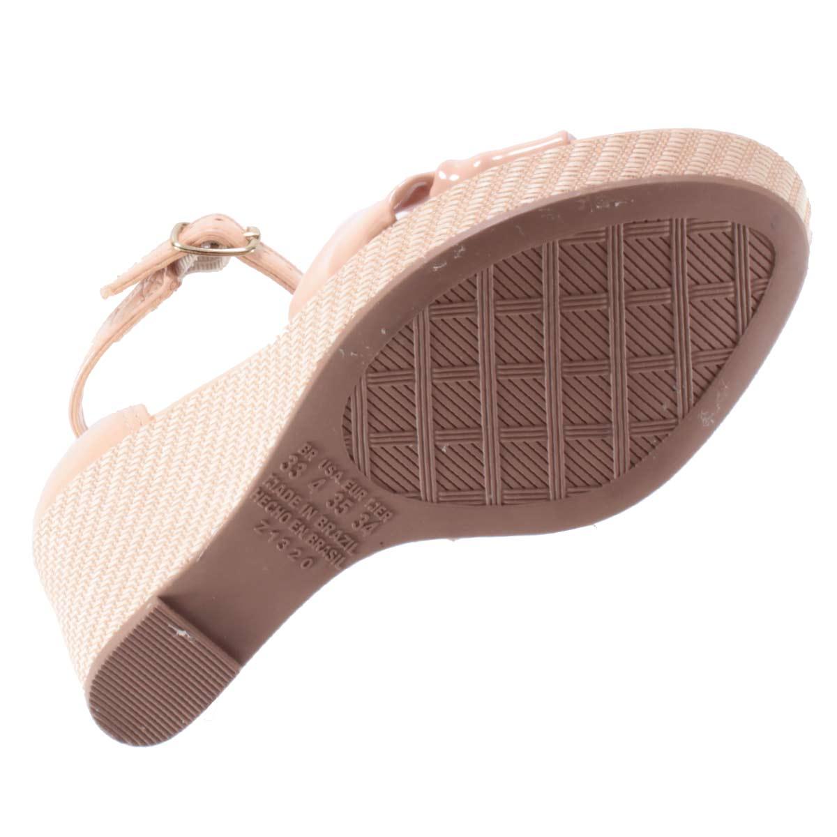 Sandália Dakota Feminina Salto Plataforma Anabela Verniz Nó Z2333  - Ian Calçados