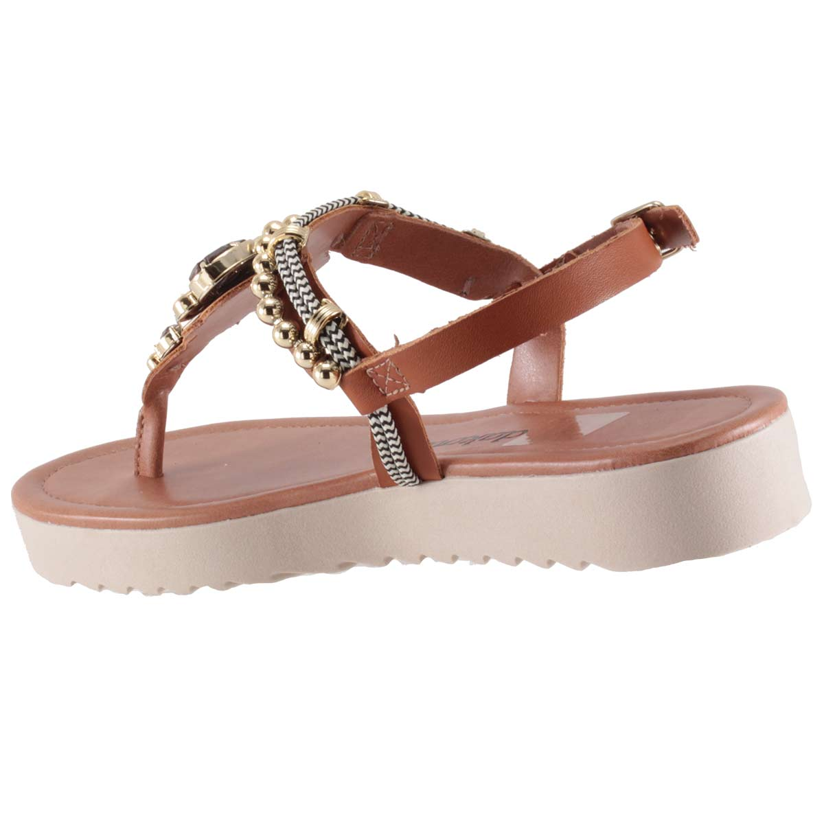 Sandália Dakota Flatform Pedrarias Dedo Linda Confortável Z2712  - Ian Calçados