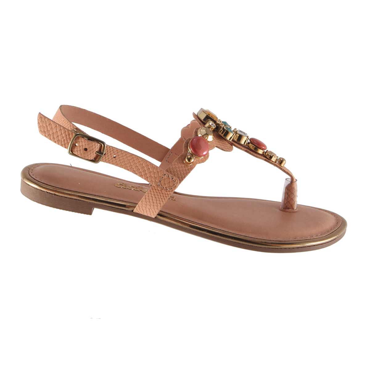 Sandália Dakota Rasteira Chatons Confortável Z1362  - Ian Calçados