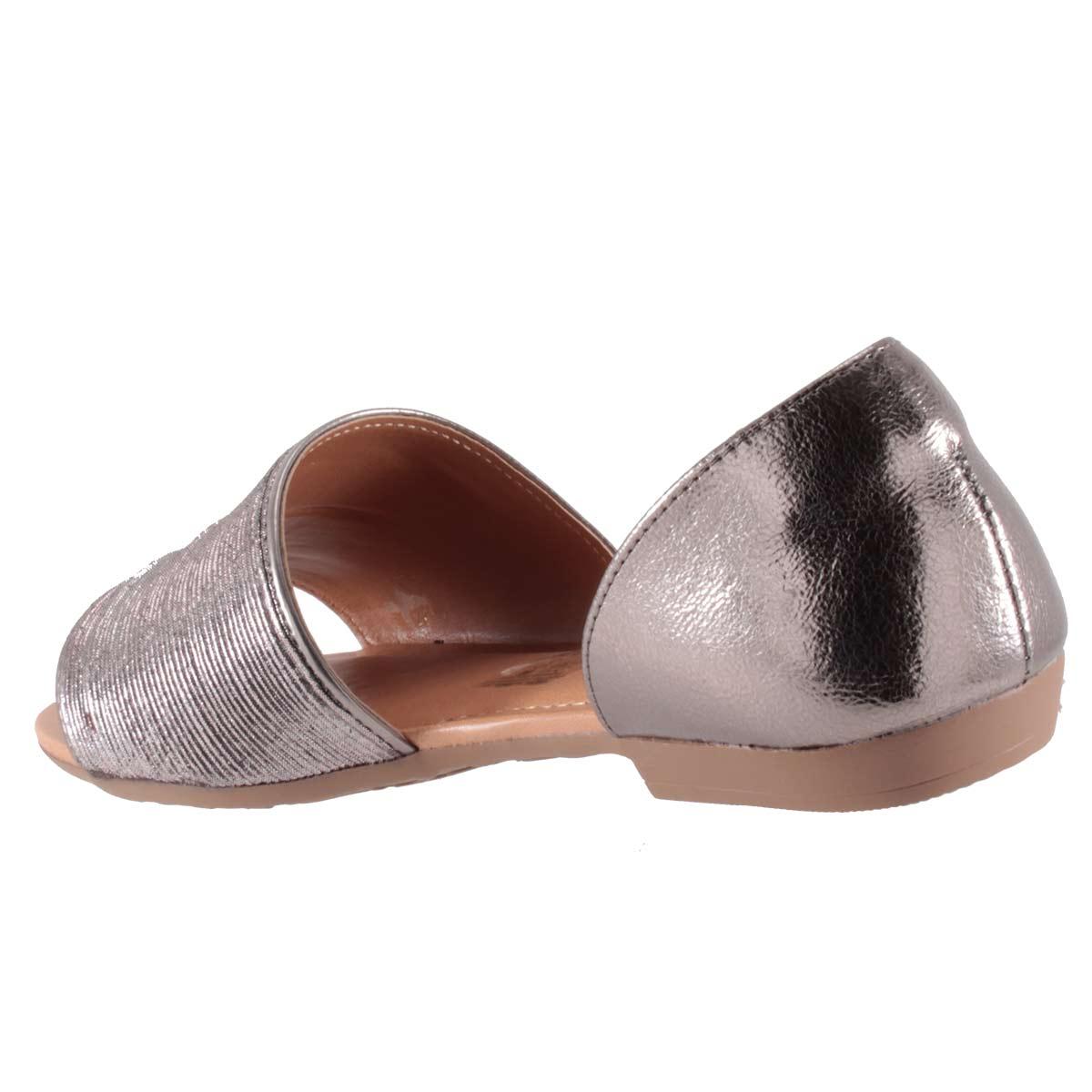 Sandália Dakota Rasteira Metalizada Feminina Linda Confortável Z2653  - Ian Calçados