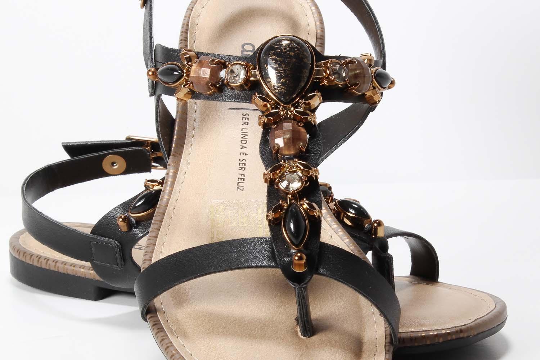 Sandália Dakota Rasteira Pedrarias Confortável Z3984  - Ian Calçados