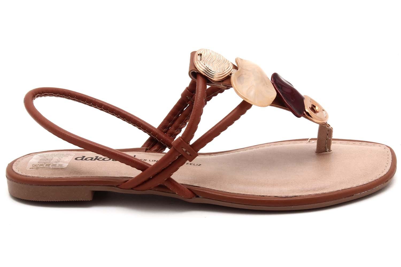 Sandália Dakota Rasteira Pedras Feminina Z8622