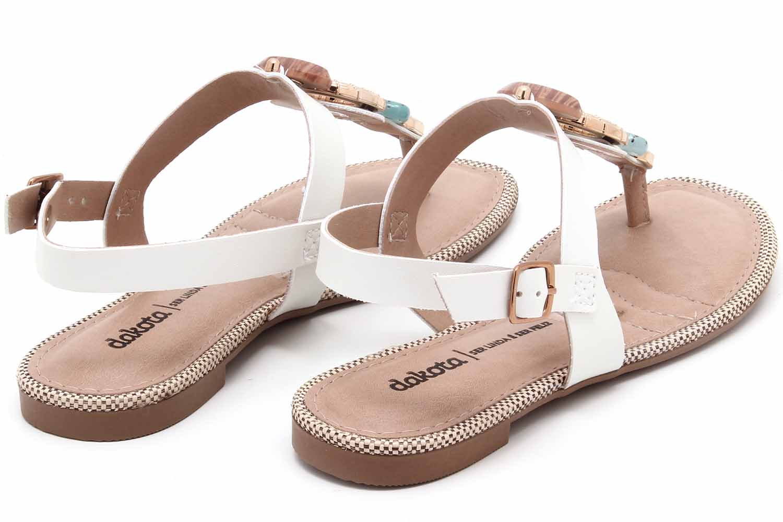 Sandália Dakota Rasteira Pedras Feminina Z8631