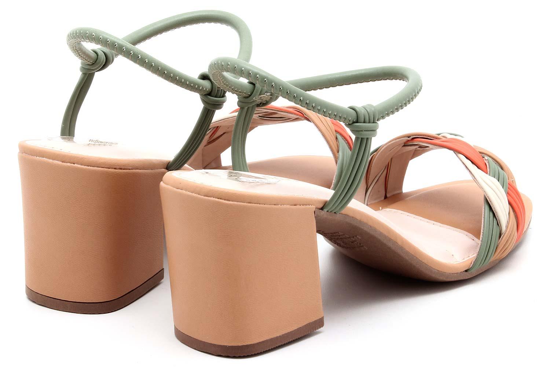 Sandália Dakota Salto Bloco Tramado Feminino Z8712