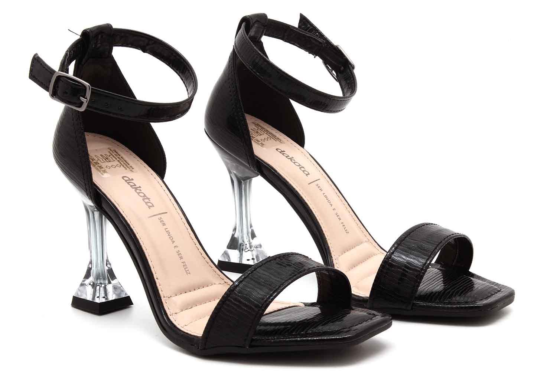 Sandália Dakota Salto Fino Transparente Feminino Z8851