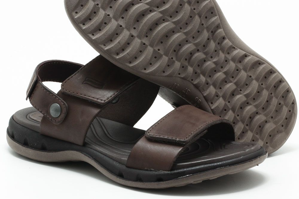 Sandália Itapuã Couro Chinelo Masculino 11204S18  - Ian Calçados